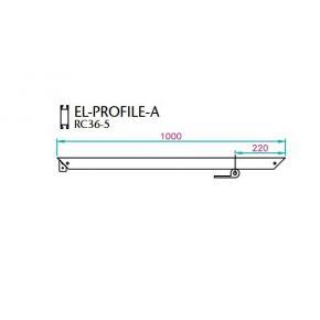 EL-1 Rahmenprofil 1000mm - A