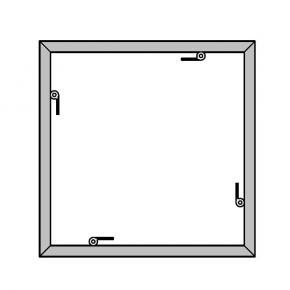 EL-1 Rahmen, 1000x1000mm - 0-F