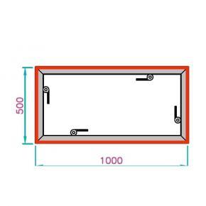 EL-2 Rahmen, 1000x500mm - 4-H