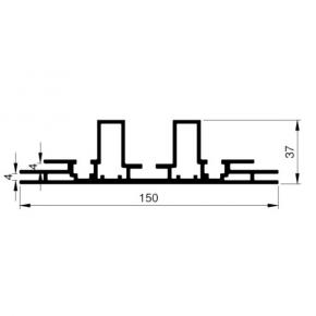 Bannerprofil SF-44-150 LED