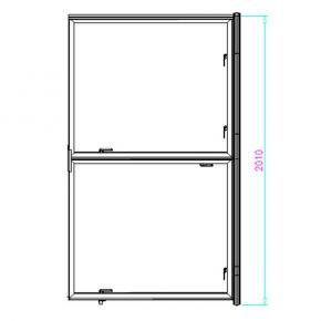 Tür für EasyLock 3, 1000x2010 mm