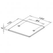 Fußplatte, D120-6
