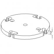 Fußplatte mit Gewinde, D120-4R-6G/M10