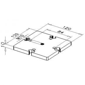 Fußplatte mit Gewinde, D120-4-6G/M10